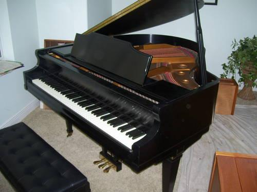 Kimball baby grand piano for sale in titusville florida for How big is a baby grand piano