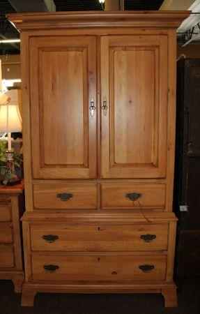 kincaid pine armoire w drawers spring north houston. Black Bedroom Furniture Sets. Home Design Ideas