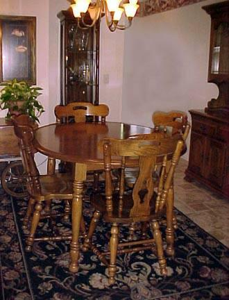 Kincaid Solid Oak Table Chairs China Hutch Cart Will Seperate For Sale In Portland