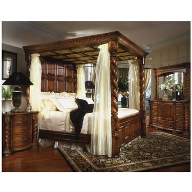 king size 4 poster bedroom set for sale in finley traditional king white leather poster canopy bed 4 pc