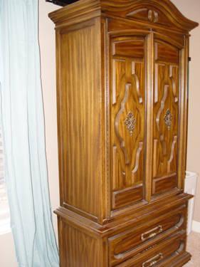 King Size Bedroom Set Headboard Dresser Armoire Night