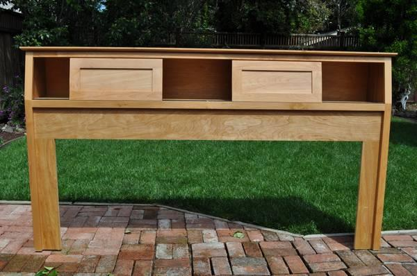king size bookcase headboard for sale in redwood city california classified. Black Bedroom Furniture Sets. Home Design Ideas