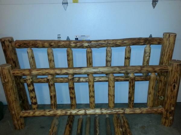 King Size Log Bed Frame Reduced For Sale In Black Hawk South