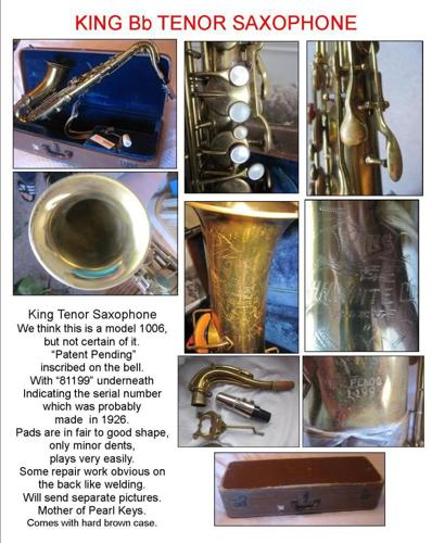 King Tenor Saxophone Maybe 1926 Model - $425 147th  Maple Area