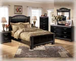 king size ashley bedroom suite with 32 inch flatscreen lg