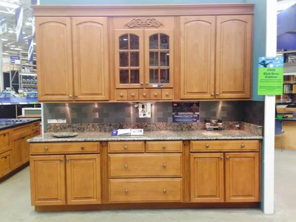 Kitchen cabinet display from Lowe s Shenandoah Winchester
