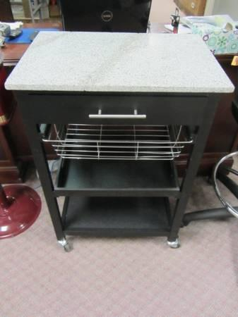 Kitchen Cart with Marble Top- PORTABLE ISLAND - $50