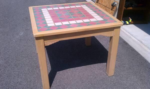 Kitchen Table Tile Top Soild Wood High Quality