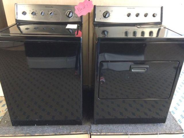 Kitchenaid Black Washer Amp Dryer Set Pair Used For Sale