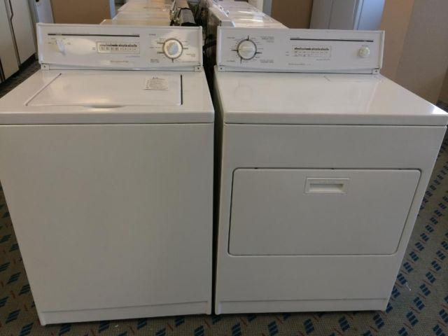 kitchenaid prestige washer u0026 dryer set pair used