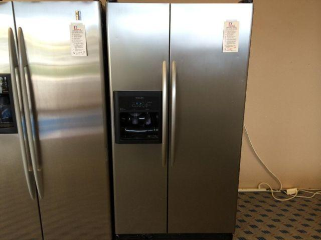 KitchenAid Stainless U0026 Black Side By Side Refrigerator