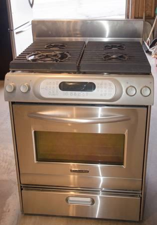 kitchenaid stainless high end stove nice for sale in galbraith iowa
