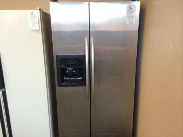 KitchenAid Stainless Side by Side Refrigerator Freezer - USED