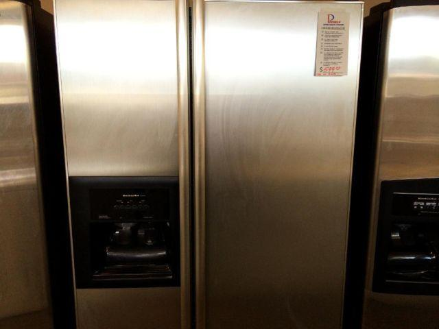 KitchenAid Stainless Side by Side Refrigerator - USED