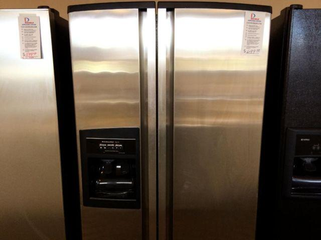 KitchenAid Superba Stainless Side by Side Refrigerator - USED