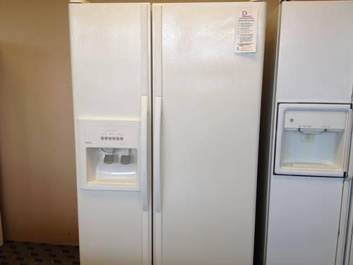 Kitchenaid White 25 Cf Side By Side Refrigerator Freezer Used