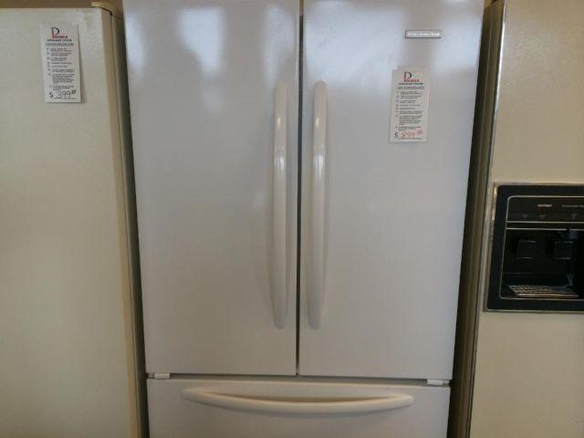 Kitchenaid white french door refrigerator used for sale for White french doors for sale