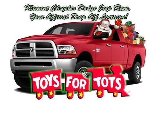 Toys For Tots Advertisement : Klement chrylser dodge jeep ram toys for tots year end big