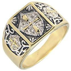 KNIGHTS TEMPLAR MENS RING - $20