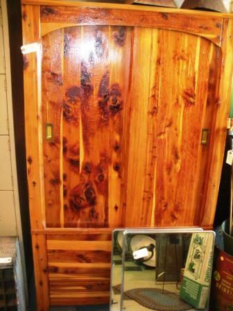 Knotty Pine Cedar-Lined Wardrobe Freestanding Closet - $119
