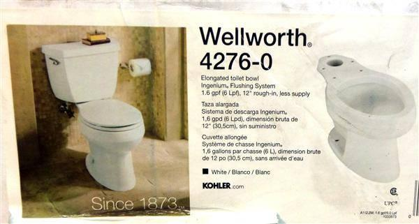 Kohler 4276 0 Wellworth Elongated Toilet Bowl White New