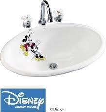 Kohler brand Mickey and Minnie Bathroom sink with Faucet and ...