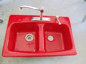 Kohler Red Cast Iron Sink Nice East Bradenton For Sale