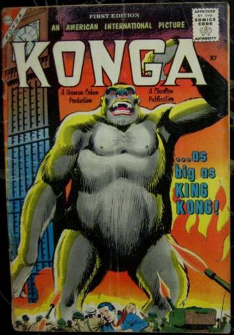 KONGA LOT# 1,2,3,4 Jun-Dec 1961 Based on Movie Ditko