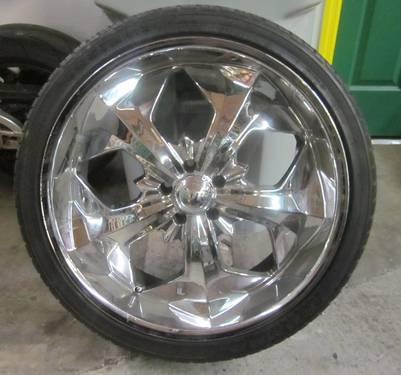 Ktp 22 inch 5 lugs chrome rims tires 5x4 5 bolt for Ktp fishing report