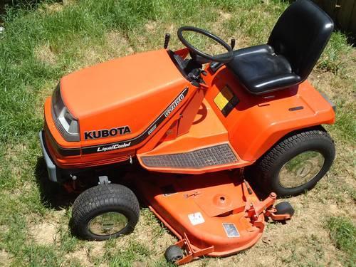 Kubota Tractors Parts G2000 : Kubota g lawn mower garden tractor quot mowing deck