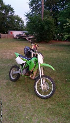 kx 80 racing bike has a brand new motor just put on at