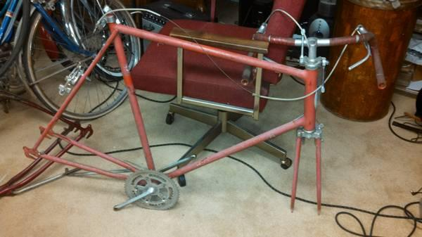 LK 1973 Schwinn LARGE FRAME road bike frame Continental bicycle