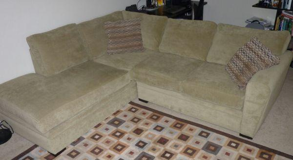 Fantastic L Shaped Microfiber Sofa For Sale In Mountain View Pdpeps Interior Chair Design Pdpepsorg