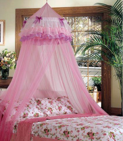 Lace Bed Mosquito Netting Mesh Canopy Round Dome