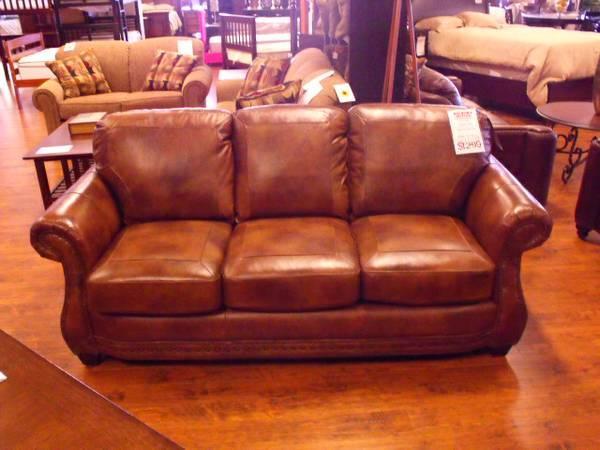 Lacrosse Leather Sofa Apache Sedona