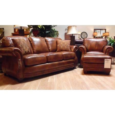 LaCrosse Leather Sofa Apache Sedona CLOSEOUT - $1099