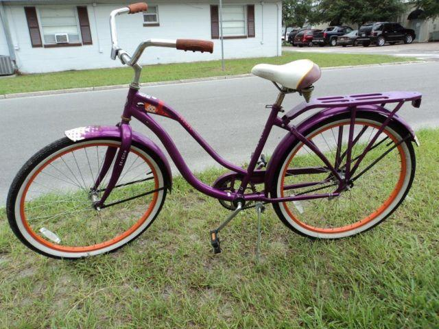 Ladies Schwinn Beach Cruiser Bicycle - Purple