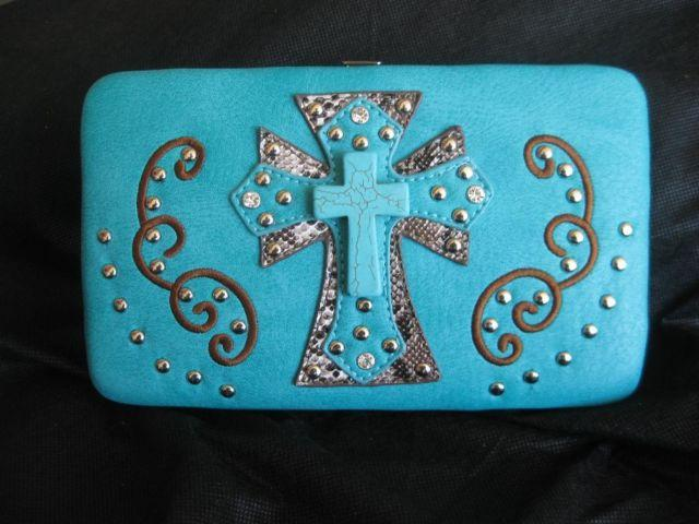 Ladies Turquoise Leather Wallet
