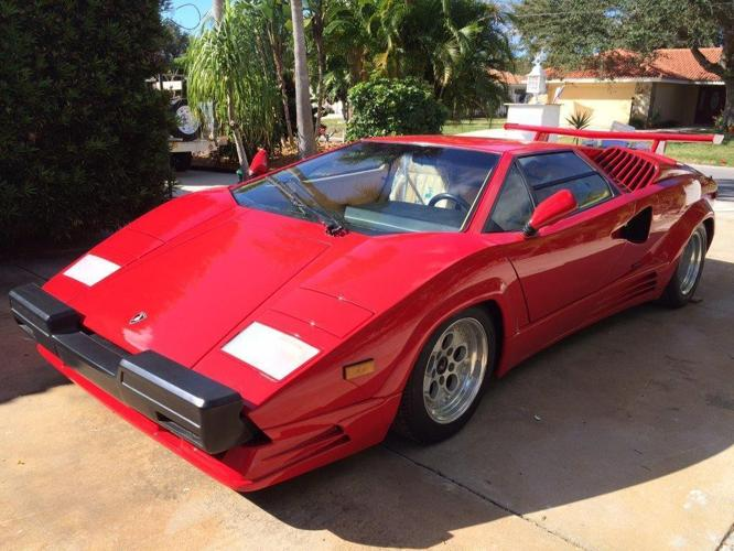 Lamborghini Countach 1989 Silver Anniversary Edition Rosso For Sale