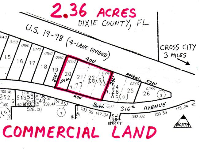 Land for Development in Cross City, Florida, Ref#