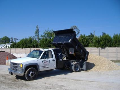 Landscape material river rock shell soill fill dirt sand for Landscaping rocks fort myers fl