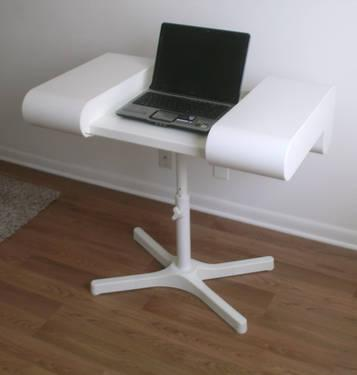 lap top computer desk with sliding cover like new for sale in