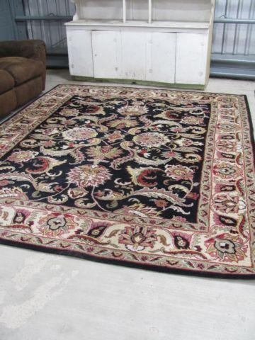LARGE 8X10 HAND TUFTED AGRA INDIA WOOL AREA RUG
