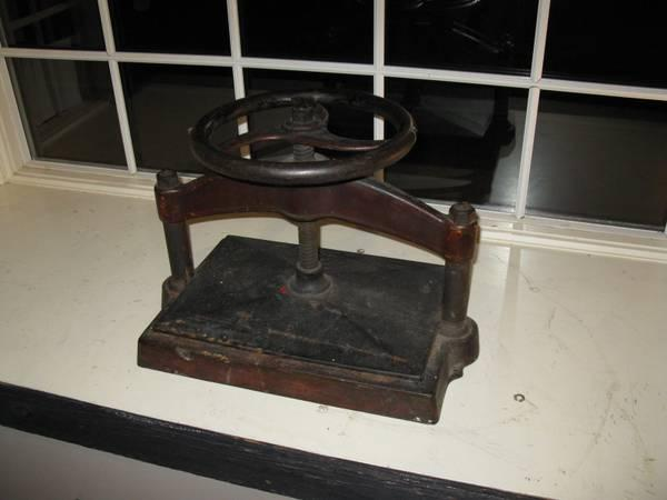 Large, Antique BOOK PRESS - $350