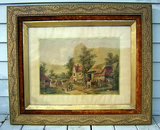 Large Antique Picture Frame 19th Century Gustav W Seitz Litho