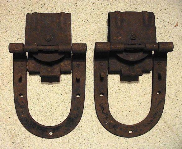Large antique sliding barn door hardware rollers for Vintage horseshoes for sale