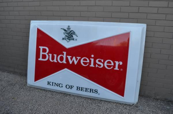 Decorating with Budweiser Signs