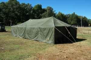 Large Canvas Cabin Tent Hunting Group 16 x 32 Military & Large Canvas Cabin Tent Hunting Group 16 x 32 Military GP Medium ...