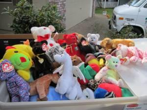 Large Collection Of Ty Beanie Babies Original Furby All