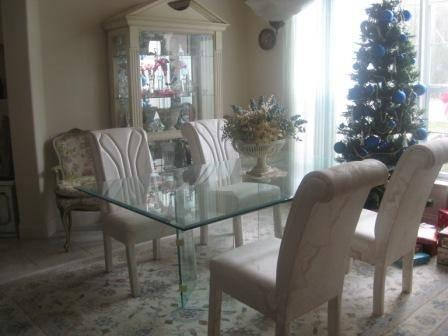 Large ethan allan dining room table chairs w 2 leaves and for Allan lake furniture